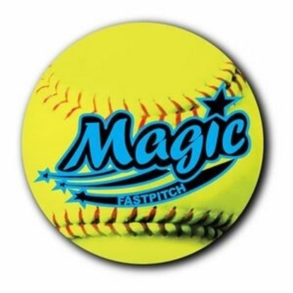 "Picture of 3"" Round Fastpitch Softball Car Magnets"