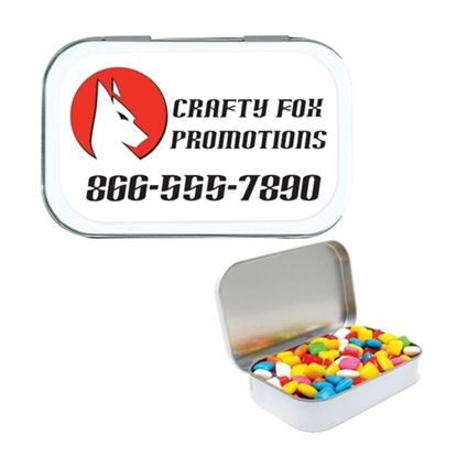 Picture of Large White Tin Gum Filled w/ Full-Color Custom Label