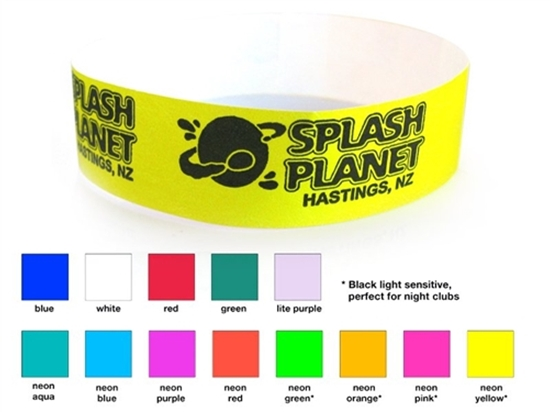 """Picture of 3/4 """" Custom Tyvek Event Wristbands"""