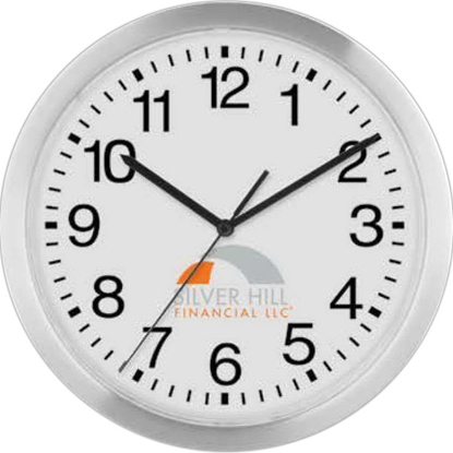 "Picture of 12"" Slim Metal Wall Clock"