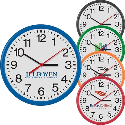 "Picture of 12"" Round Thin Wall Clock"