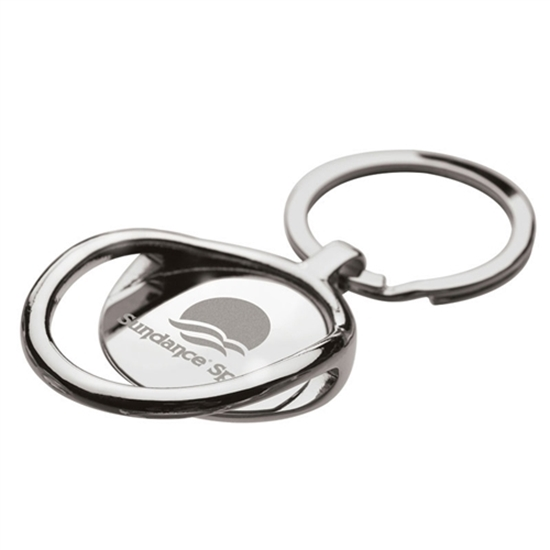 Chrome Engraved Bottle Opener Keychains
