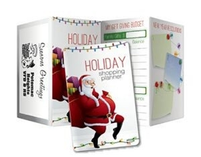 Picture of Santa Design - Holiday Shopping Planners