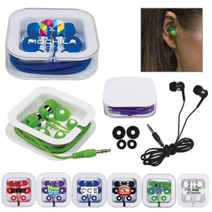 Picture of Earbuds in Square Case