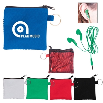 Picture of Earbuds w/Zip Pouches