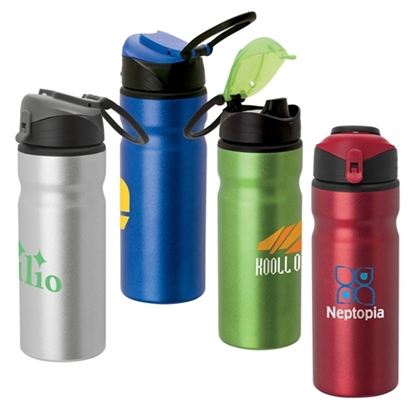Picture of Flip 24 oz. Aluminum Water Bottles
