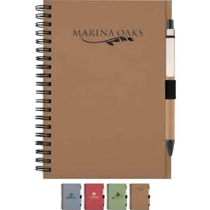 Picture of Recycled Notebook with Matching Paper Pen
