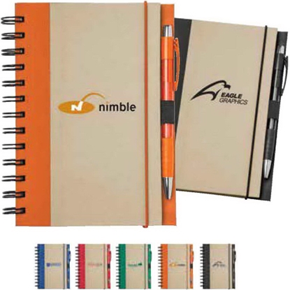 Picture of Recycled Color Spine Spiral Notebook