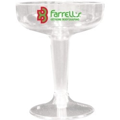 Picture of 4 Oz. 2 Piece Clear Plastic Champagne Glasses