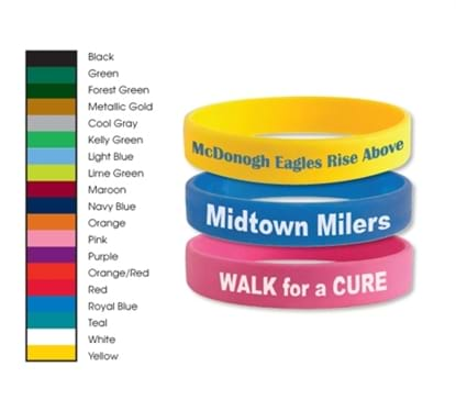Picture of Silicone Awareness Bracelets