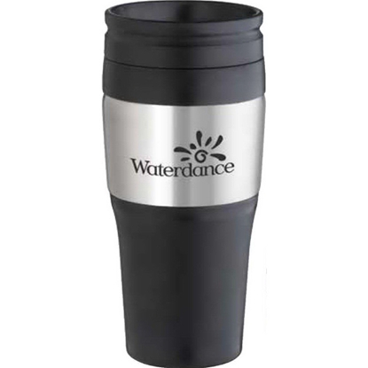 Picture of 16 oz. 2-Tone Stainless Tumbler with Plastic lid