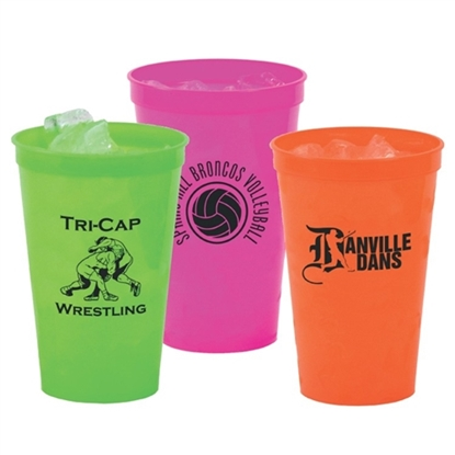 Picture of 22 oz. Neon Smooth Stadium Cups