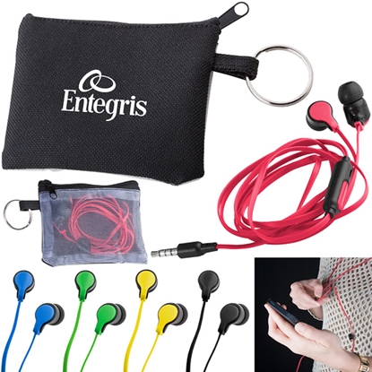 Picture of Taffy Microphone Flat Wire Earbuds