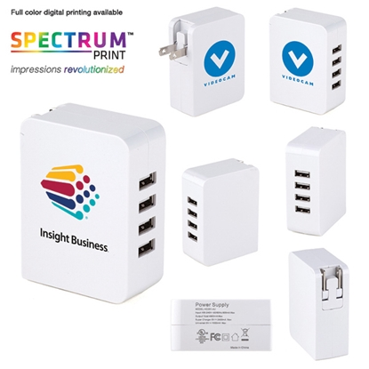 Picture of Mountain View 4-port USB Wall Charger