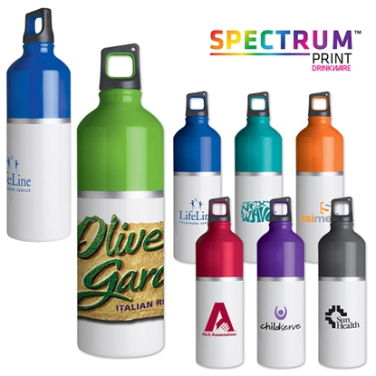 Picture of 2-Tone color spot aluminum water bottle