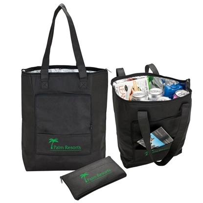 Insulated Promotional Barbuda Folding Cooler Tote Bag