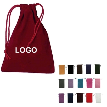 Big Drawstring Velvet Pouch